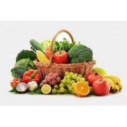 Panier fruits et legumes bio